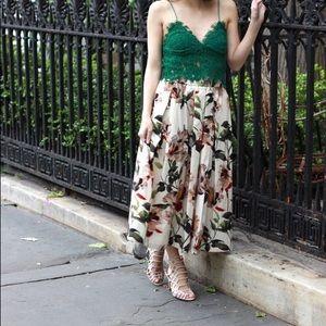 RARE!!! NWT zara green lace top